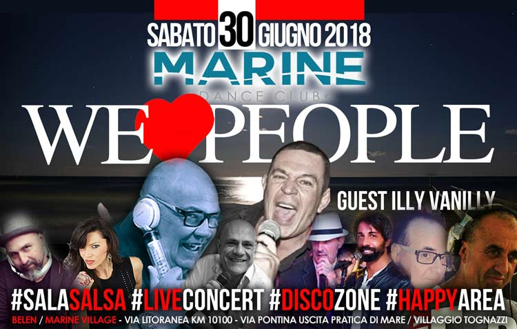Marine Village Sabato 30 giugno 2018 - We Love People ILLI VANILLY - sabato 30 giugno 2018