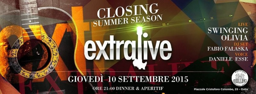 Shilling - Giovedì | Extra Live - giovedì 10 settembre 2015